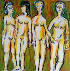 Akte vier Frauen grüner Grund -- € 18.000,-