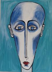 Caput Longum hell blauer Grund -- € 2.500,-