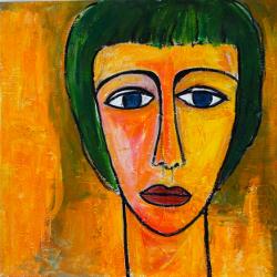 Margarete oranger Grund -- € 3.500,-