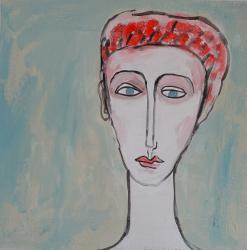 Portrait lichtem Grund -- € 1.800,-