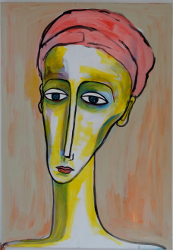Portrait mit rosa Tuch -- € 3.100,-