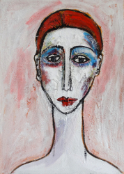 Portrait mit roter Kappe -- € 3.100,-