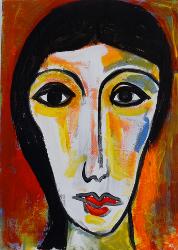 Portrait oranger Grund   -- € 1.200,-